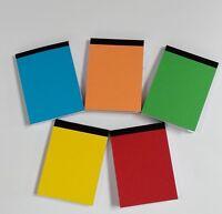 200 X HANDY A6 PAPER PLAIN WHITE MINI JOTTER/ NOTEPADS/ POCKET NOTE PADS