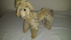 13-1-2-034-Vintage-Steiff-Snobby-Poodle-Dog-Grey-Mohair-Plush-1960s-Jointed-No-Tags