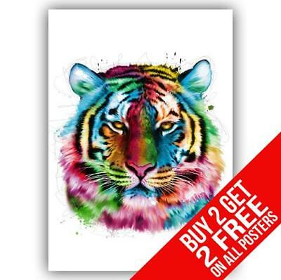 TIGER ANIMAL POSTER ART PRINT A4 A3 BUY 2 GET ANY 2 FREE