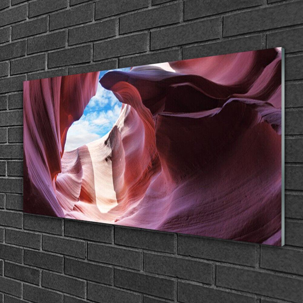 Image sur verre acrylique Tableau Impression 100x50 Art Rivière Roche