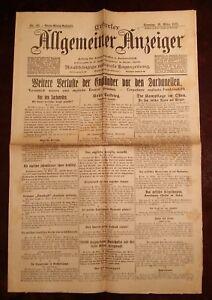 Erfurter-Allgemeiner-Indicador-21-Marz-1915-Historico-Periodico-1-Weltkrieg