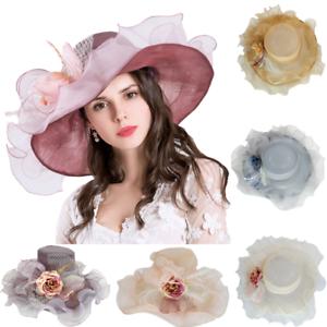 Caricamento dell immagine in corso Elegante-Cappello-Donna-Organza-Sposa-di- Matrimonio-Colori- ba69caf3c860