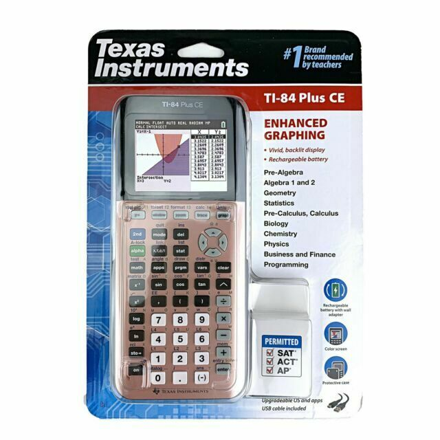 Texas Instruments Ti-84 Plus CE Plum Graphing Color Calculat