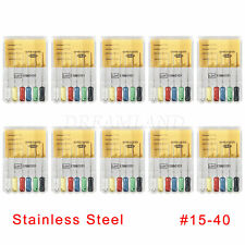1 10box Dental Spreaders 25mm 15 40 Stainless Steel Endo Root Canal Hand File