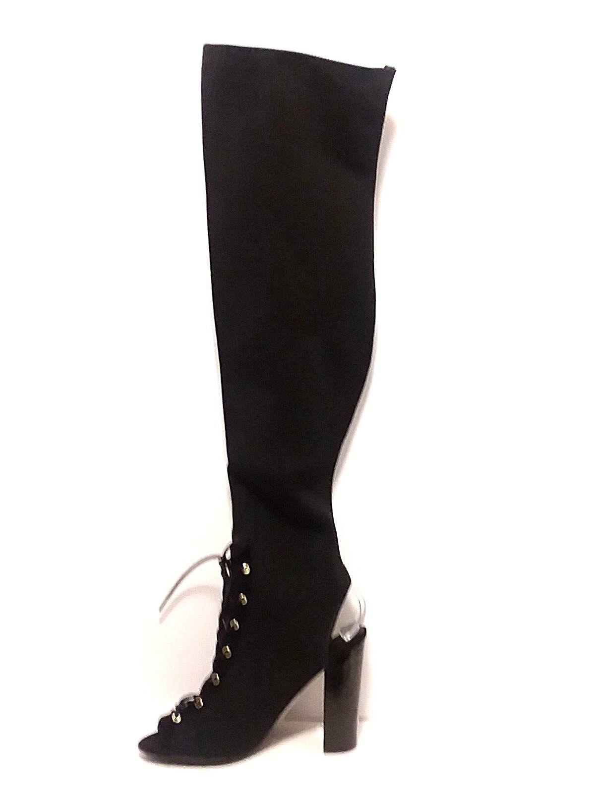 Guess Femme Calene 2 noir sur-le-Genou Stretch bottes Cosplay Lacets Taille 8.5
