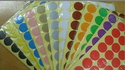"10 Rolls 10000 labels USDA Organic Labels 1/"" Circle Dots Adhesive Stickers"