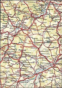 Germany REGENSBURG Bavaria MAP Postcard S EBay - Regensburg map