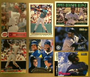 Ken-Griffey-Jr-LOT-of-7-insert-parallel-amp-base-cards-NM-Seattle-Mariners-HOF