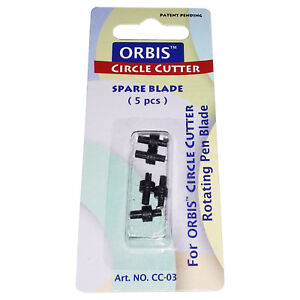 5 Ersatzschneidemesser für Kreis-Cuttermesser mit rotierender Klinge von ORBIS
