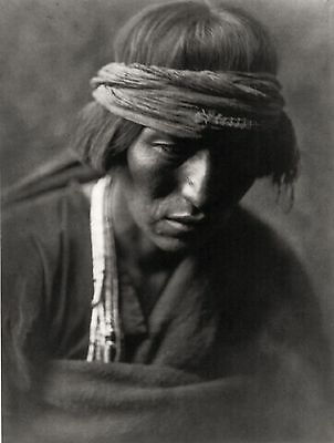 Edward S Curtis Native Indian Medicine Man Portrait Photo Art Print Poster