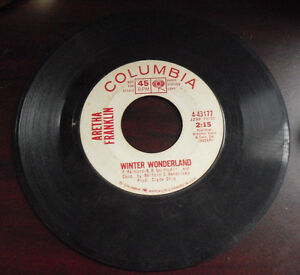 Vintage 45 Record Promo Columbia Aretha Franklin Christmas Song ...