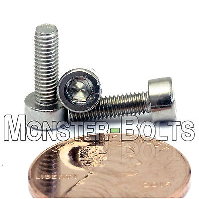 M3 x 10mm - Qty 10 - DIN 912 Socket Head Cap Screws - Stainless Steel A2 / 18-8