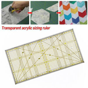 2018-Acrylic-Quilt-Quilting-Grid-Ruler-Patchwork-Tailor-Sewing-Cutting-Tool-T