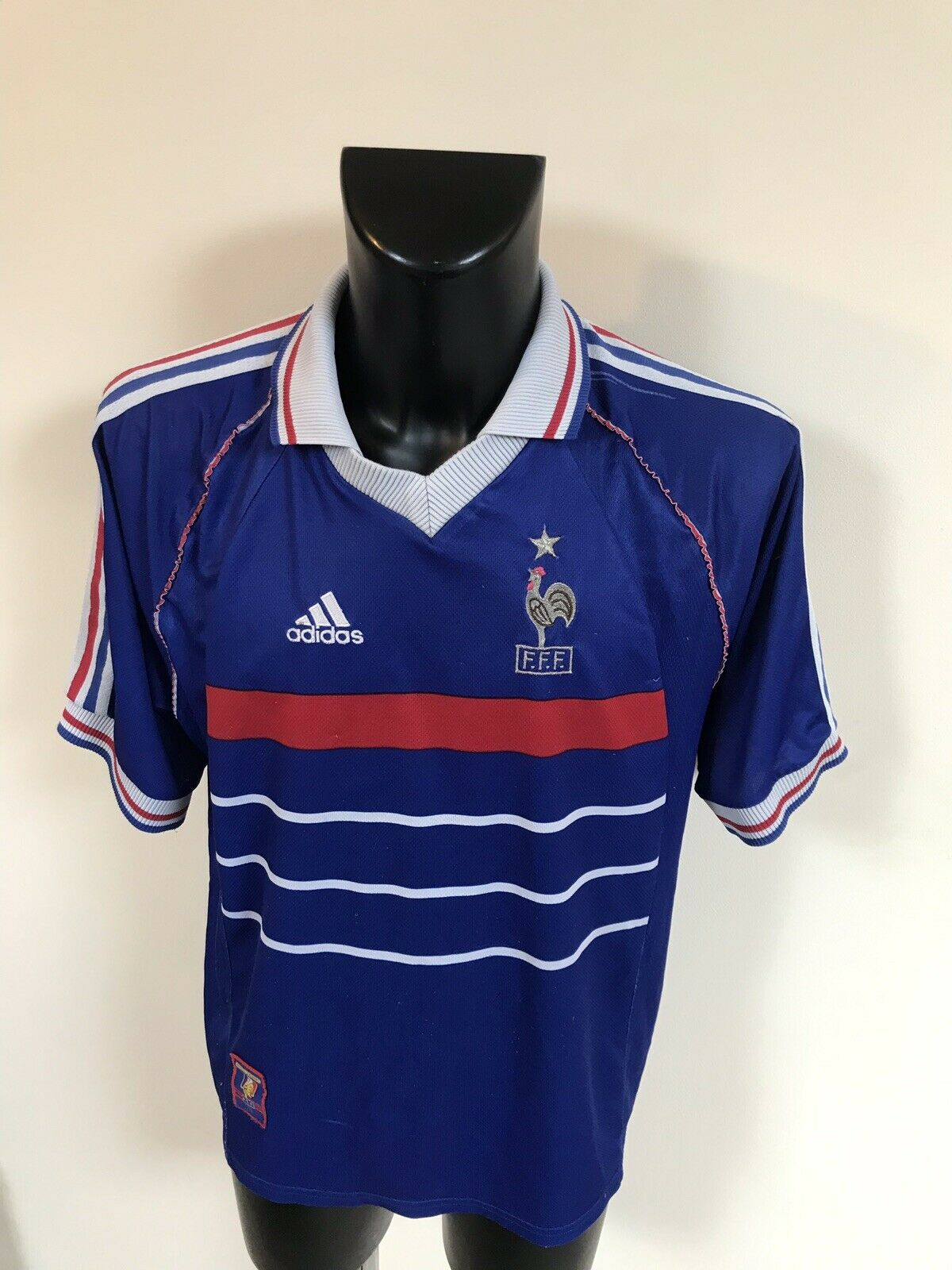 Maillot Foot Ancien Equipe De France 98 Diuominiione XL