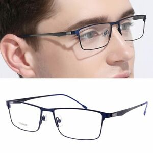 0ec7e42a5f9 Image is loading Titanium-Glasses-Frame-Men-Ultralight-Square-Eyeglasses- Male-