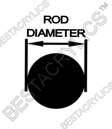 "6 Pcs 3//8"" DIAMETER 12"" INCH LONG CLEAR ACRYLIC PLEXIGLASS LUCITE ROD .375/"" DIA."