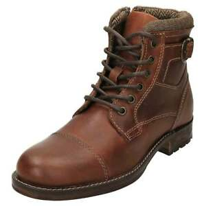 red tape leather chukka ankle boots mens worker lace up
