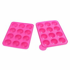 New Silicone Cake Mould Cupcake Mold Lollipop Sticks Baking Tray Stick Tool