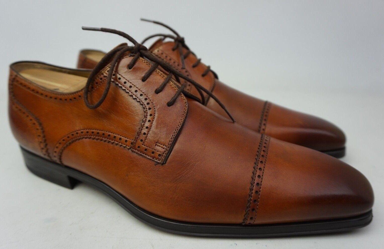 Magnanni Carlito marron Cap Toe en cuir Derby Derbies Chaussures Hommes Taille 8 M