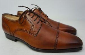 Magnanni Carlito Brown Cap Toe Leather Derby Oxfords Men's Shoes Size 8 M