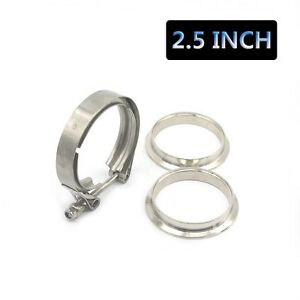 2-5-034-Stainless-Steel-V-Band-Flange-amp-Clamp-Kit-Male-Female-Turbo-Exhaust-Downpipe
