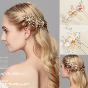 Wedding-Bridal-Crystal-Clips-Hair-Pins-Comb-Bridesmaid-Hair-Accessories-Jewelry