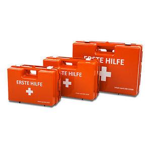 Erste Hilfe Koffer Sanitätskoffer Verbandkasten mit Wandhalterung DIN-Füllung