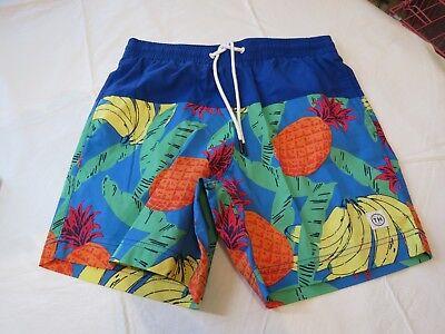 Tommy Hilfiger Mens Swim Trunks Board Shorts Swim M 78C5249 461 pineapples banan