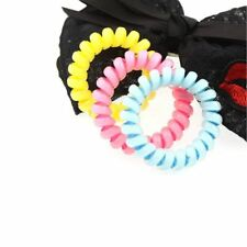 Hot 5pcs Durable Elastic Hair Ties Extendable Coiled Telephone Wire Hair Rings
