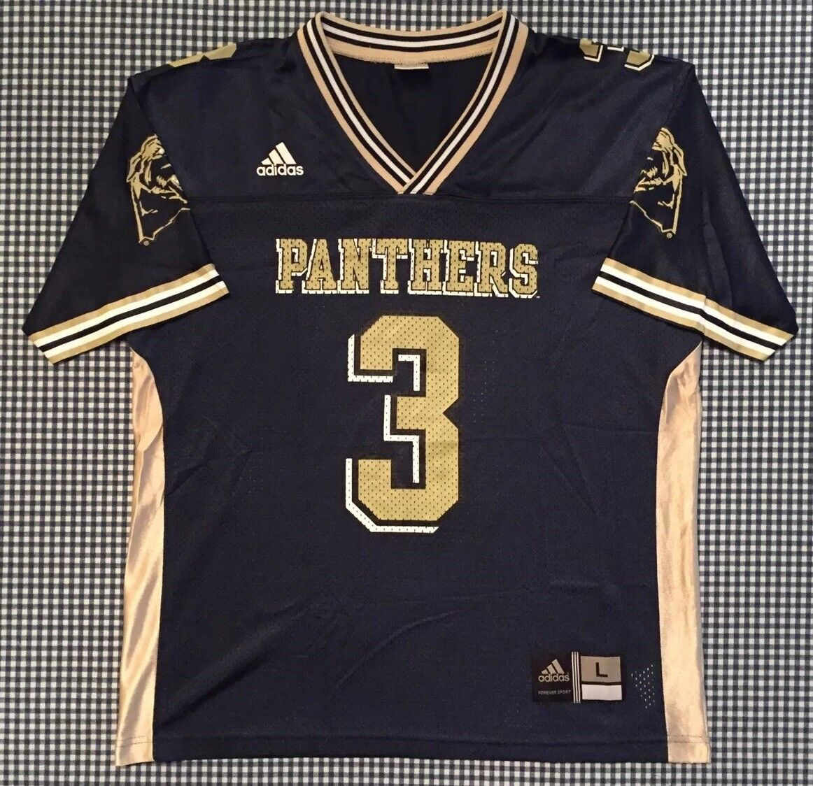 wholesale dealer 68dad 61a82 Pitt Panthers Adidas Replica Youth Kids Football Jersey Size Large 14-16  NCAA