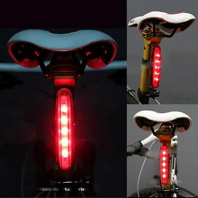 Hot Cycling Bike Bicycle Super Bright Red 5 LED Rear Tail Light 8Modes Lamp