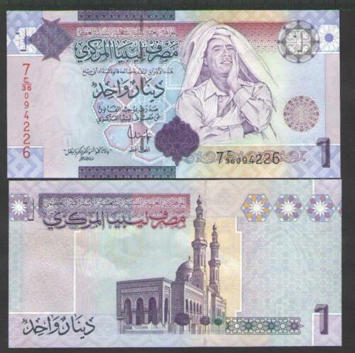 LIBYA  1  DINAR ND P 71  Uncirculated   Serie 7 2009
