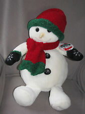 TARGET COMMONWEALTH STUFFED PLUSH SNOWDEN SNOWMAN 2000 NEW NWT HAT SCARF GLOVES