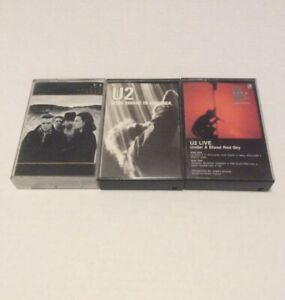 "U2 ""Joshua Tree"" ""Live Under A Blood Red Sky"" & ""Wide Awake ..."" Cassette Tapes"