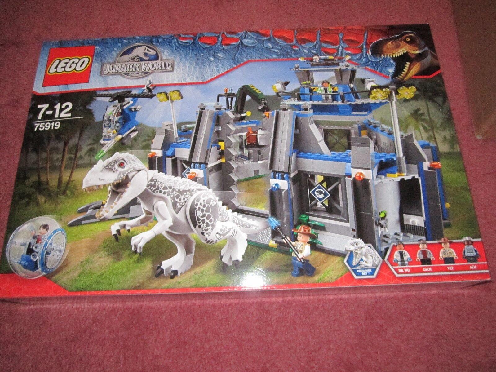 Lego Jurassic World indominous Rex Breakout 75919-Nouveau coffret Scellé