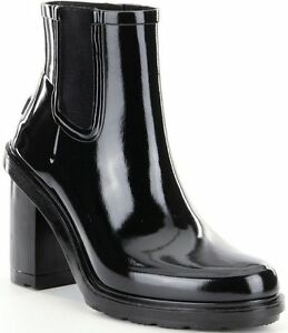 Details zu HUNTER Original Refined Rubber 39 6 Gummistiefel High Heel Chelsea Boot Latex