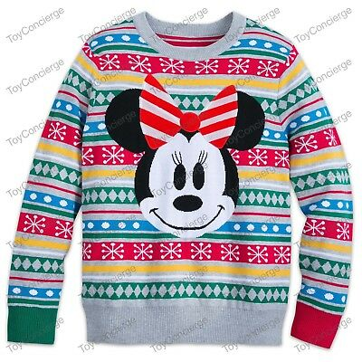 DISNEY Store CHRISTMAS 2018 SWEATER for MEN Holiday MICKEY MOUSE Pick Size NWT
