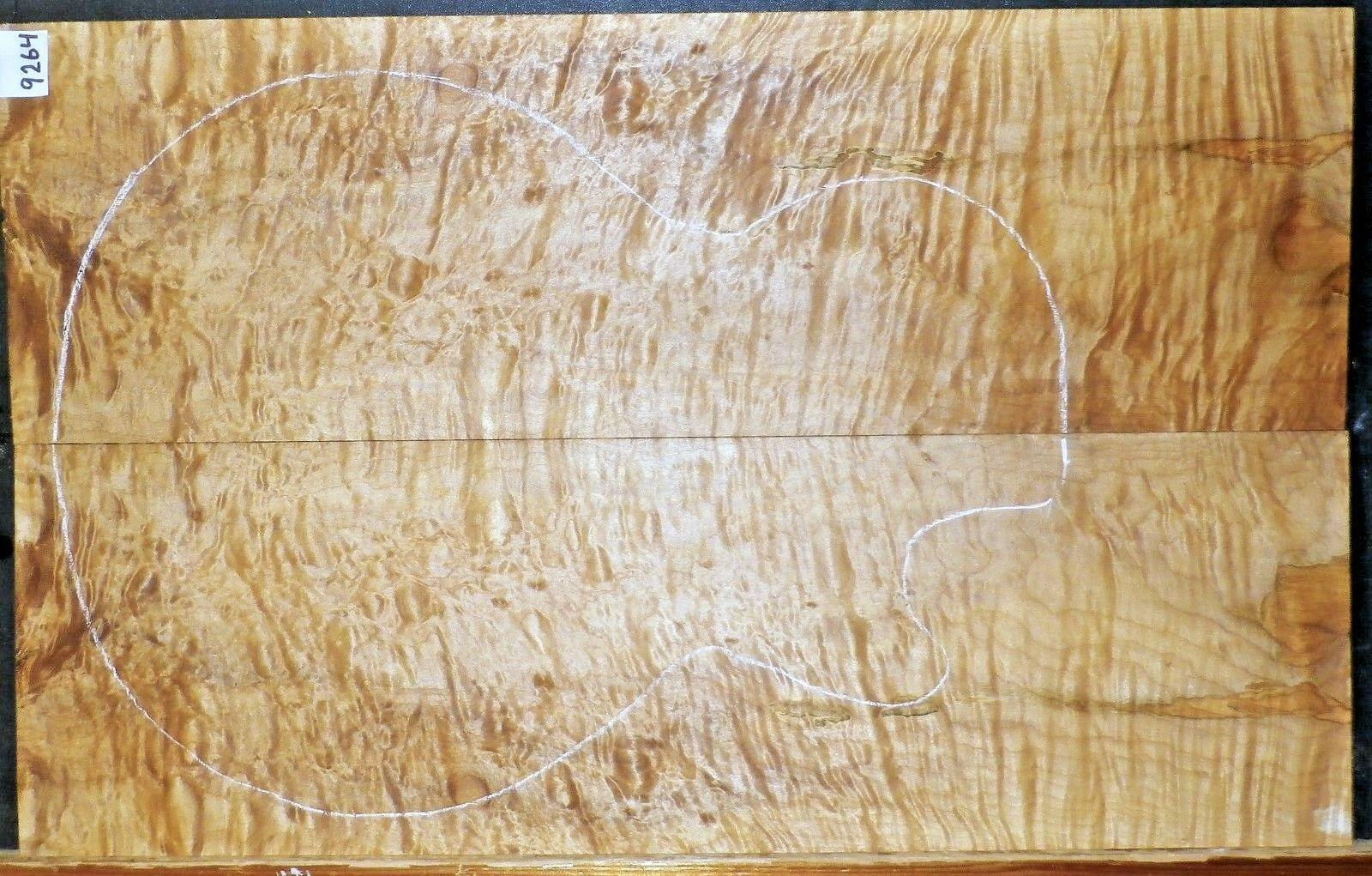 QUILTED TIGER MAPLE WOOD 9264 LUTHIER ELECTRIC GUITAR TOP SET 23.75 x 15 x .375