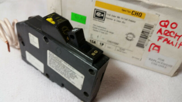 Cutler-Hammer CHQ115AF Arc Fault Circuit Breaker 15A 1 Pole 120V New