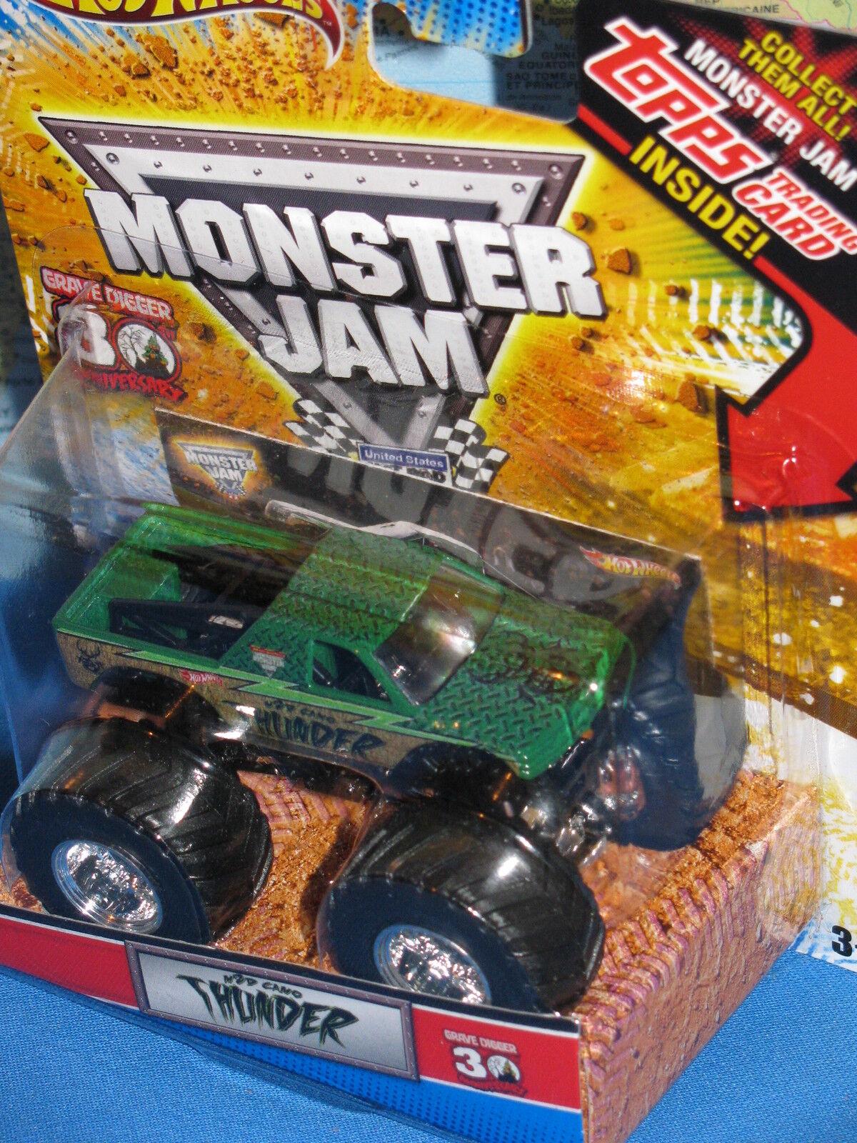 Hot Wheels Confiture de Monstre Thunder Camion 30ème Anniversaire Topps