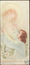 OLD FIRST COMMUNION REMEMBRANCE HOLY CARD ANDACHTSBILD SANTINI SEE MY SHOP C757