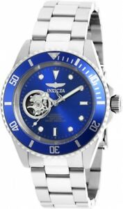 New-Mens-Invicta-20434-Pro-Diver-Automatic-Blue-Dial-Stainless-Steel-Watch