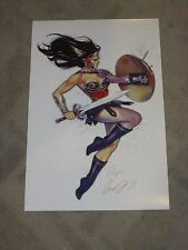 2017 ECCC WONDERWOMAN ART PRINT BY ELIAS CHATZOUDIS SIGNED 11x17