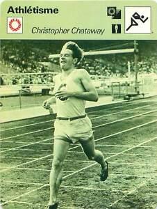 FICHE-CARD-Christopher-Chataway-GB-Courses-de-fond-Demi-fond-Athletisme-1970s