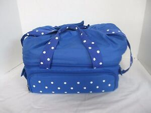 Temp Tations Blue And White Polka Dot Tote Bags Only Ebay