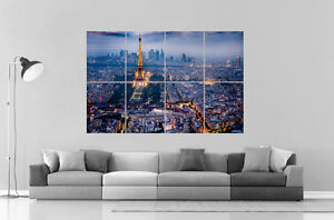 Paris By Night Paris De Nuit Wall Art Poster Grand Format