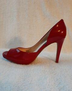8m/38 Red Peep Toe Heels | eBay