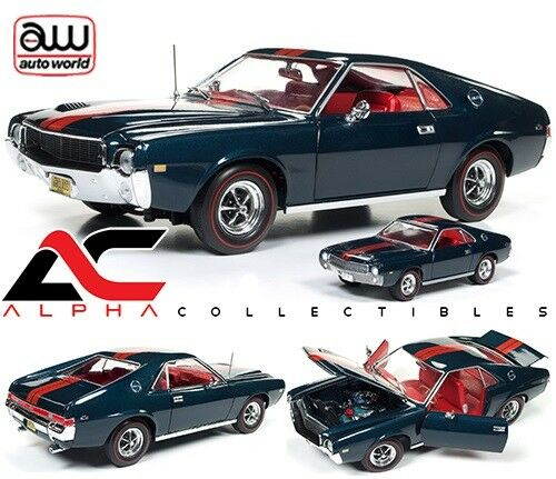 Autoworld AMM1124 1 18 & 1 64 1968 AMC AMX  Classe de 68  50TH ANNIVERSARY LIMITED ED