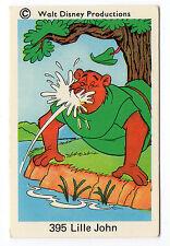 1970s Sweden Swedish Walt Disney Card - Robin Hood - Little John at the river