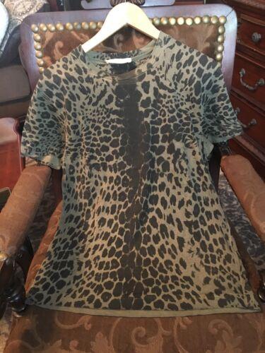pierre balmain Leopard print mens T-shirt size sma